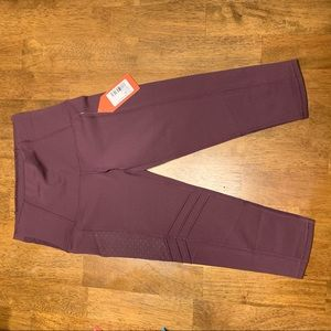 Oiselle Maroon exercise leggings NWT